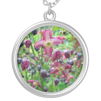 Schöne Fee Wings Blumen u. Knospen-Frühlings-Foto Versilberte Kette