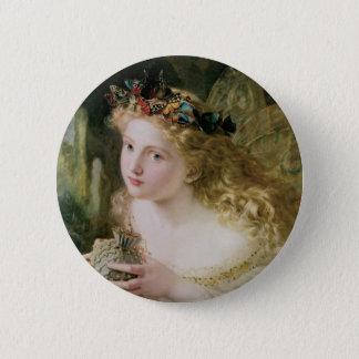 Schöne feenhafte Schmetterlinge, Vintage Runder Button 5,7 Cm