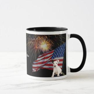 Schöne Feuerwerk-Feier-Jack-Russell-Tasse Tasse