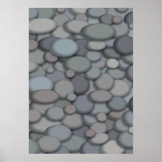 Schöne Fluss-Felsen-Plakat-Schablone Poster