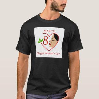 Schöne Frau innerhalb eines roten Herzens T-Shirt
