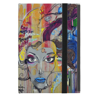 Schöne Frau mit blauen LippenGraffiti iPad Mini Etuis
