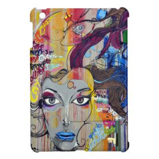 Schöne Frau mit blauen LippenGraffiti iPad Mini Hülle