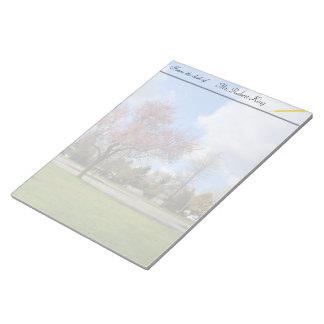 Schöne Frühlingspark-Landschaftsphotographie Memo Blöcke