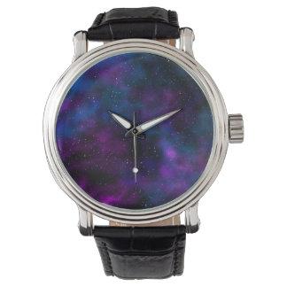 Schöne Galaxie-Nachtsternenklares Bild des Raumes Armbanduhr