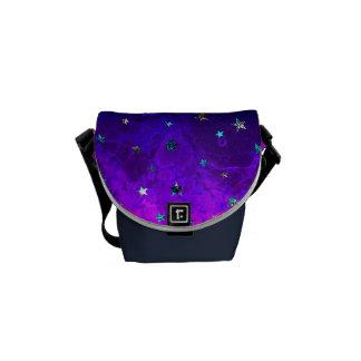 Schöne Galaxie-Nachtsternenklares Bild des Raumes Kuriertasche