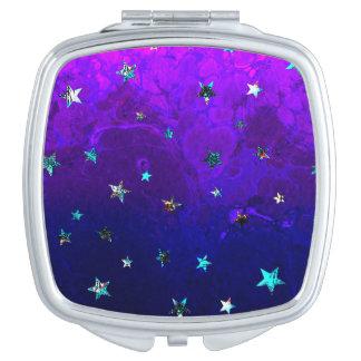 Schöne Galaxie-Nachtsternenklares Bild des Raumes Taschenspiegel