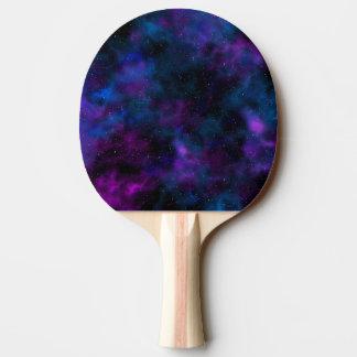 Schöne Galaxie-Nachtsternenklares Bild des Raumes Tischtennis Schläger
