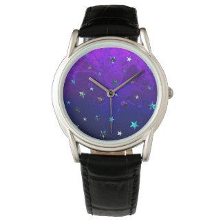 Schöne Galaxie-Nachtsternenklares Bild des Raumes Uhr