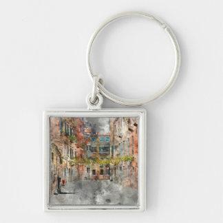 Schöne Gebäude in Venedig Italien Schlüsselanhänger