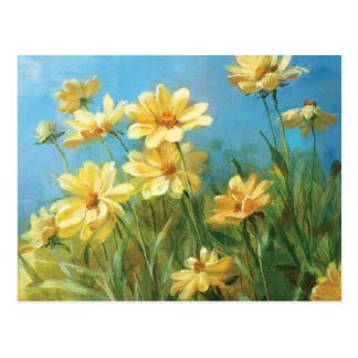 Schöne gelbe Gänseblümchen Postkarte