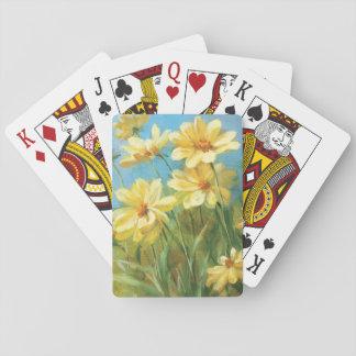 Schöne gelbe Gänseblümchen Spielkarten