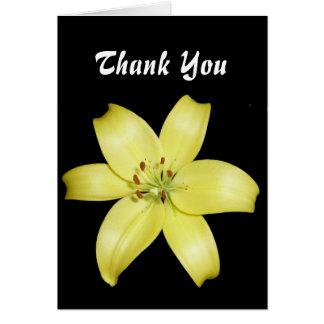 Schöne gelbe Lilie Grußkarte