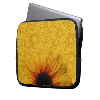 Schöne gelbe Sonnenblume-Laptop-Hülse Laptopschutzhülle