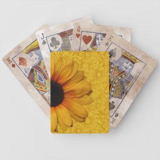 Schöne gelbe Sonnenblume-Spielkarten Bicycle Spielkarten