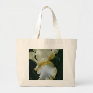Schöne gelbe und weiße Iris Jumbo Stoffbeutel