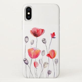 Schöne gemalte Blumen Girly iPhone X Hülle