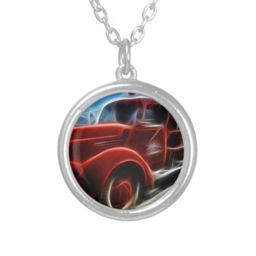 Schöne glänzende antike rote Löschfahrzeug-Kunst Personalisierter Schmuck