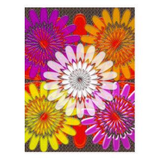 Schöne GLÜCKLICHE CHAKRA Sonnenblume-Grüße Postkarte