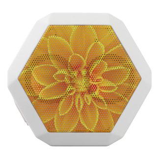 schöne goldene gelbe Dahlie-Blume bunt Weiße Bluetooth Lautsprecher
