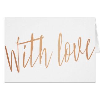 """Schöne GoldRose """"mit Liebe """" Grußkarte"""