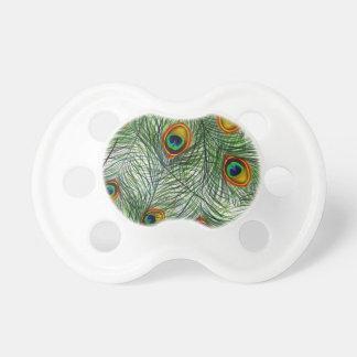 Schöne grüne Pfau-Feder Schnuller