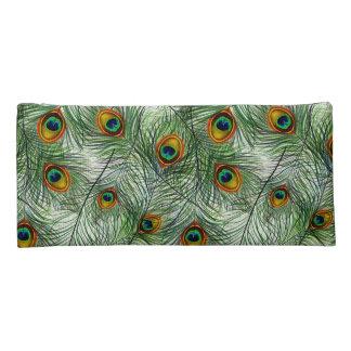 Schöne grüne Pfau-Feder Stiftetasche