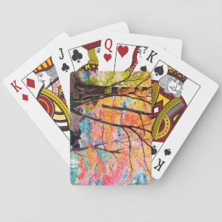 Schöne Herbst-Baum-Spielkarten Spielkarten