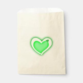 schöne Herzen des grünen Lichtes der Liebe Geschenktütchen