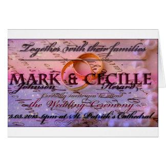 Schöne Hochzeits-Einladung Karte