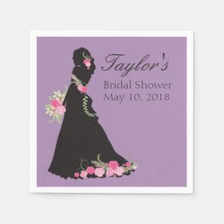 Schöne Hochzeits-KleiderSilhouette Papierserviette