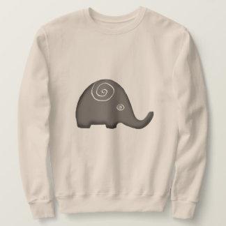 Schöne ikonenhafte Stammes- gewundene Elefanten Sweatshirt