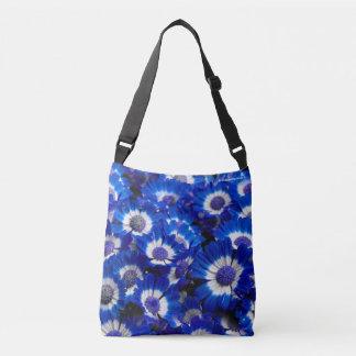 Schöne königliches Blaucineraria-Blumen Tragetaschen Mit Langen Trägern
