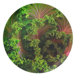 Schöne KopfsalatPlatte Melaminteller