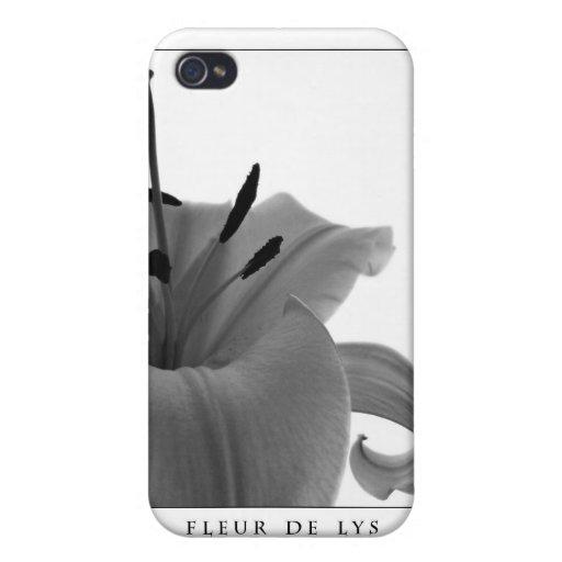 Schöne Kunst Fleur de Lys iPhone 4 Fall Etui Fürs iPhone 4