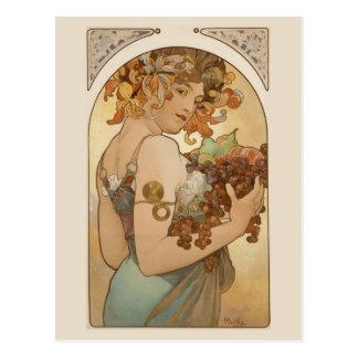 Schöne Kunst Nouveau Jugendstil Mucha Postkarte