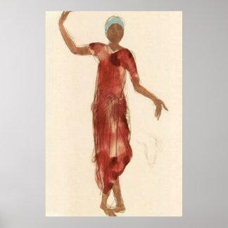 Schöne Kunst ~ Rodins Kambodscha-Tänzer c1906 Poster