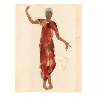 Schöne Kunst ~ Rodins Kambodscha-Tänzer c1906 Postkarte
