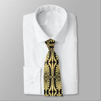 Schöne Kunstdekorgoldschwarz-Krawatte Personalisierte Krawatten