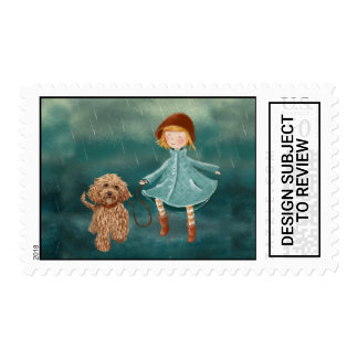 Beautiful Labradoodle Dog Painting