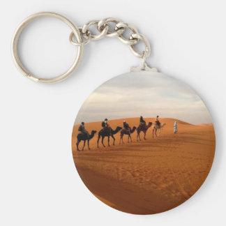 Schöne Landschaft der Kamelwohnwagen-Wüste Schlüsselanhänger