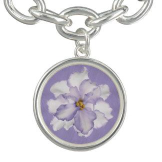Schöne Lavendel-Orchidee Armbänder