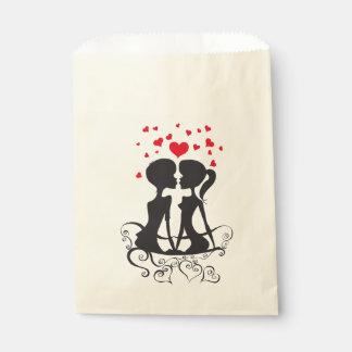 Schöne Liebe-Herz-Kussstrudelkunst Geschenktütchen