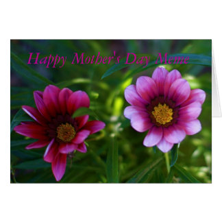 Schöne lila Blumen Meme Gruß-Karte