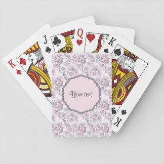 Schöne lila Blumen Spielkarten