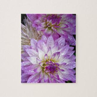 Schöne lila Dahlie-Blumen Puzzle