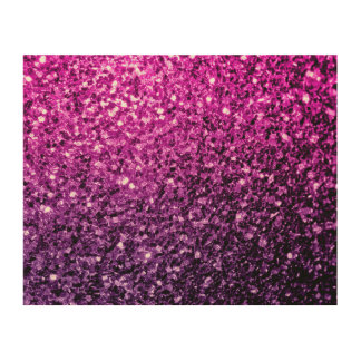 Schöne lila rosa Ombre Glitter-Glitzern Holzwanddeko