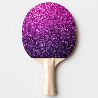 Schöne lila rosa Ombre Glitter-Glitzern Tischtennis Schläger