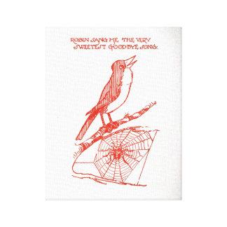 Schöne literarische Illustration alter König Cole Leinwanddruck