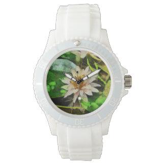 Schöne Lotos-Blume Armbanduhr